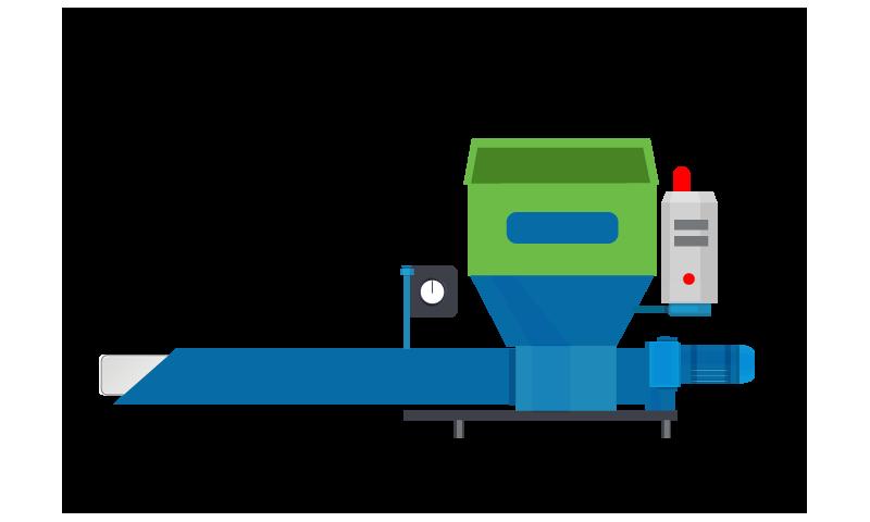 PRWM370 - Polystyrene Compacting Machine