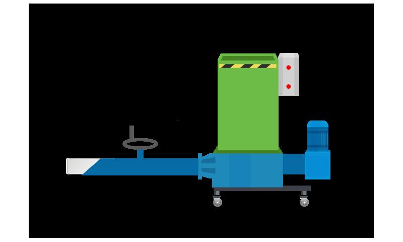 PRWM130 - Polystyrene Recycling Machine