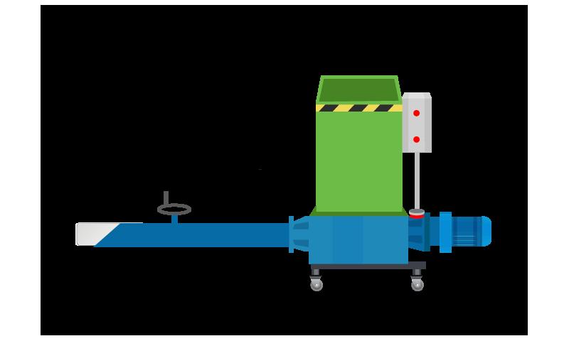 PRWM200 - Polystyrene Recycling Machine